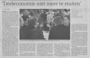 Deeleconomie niet meer te stuiten - Dagblad van het Noorden