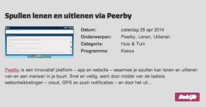 shareNL | VARA | Kassa | Peerby | 26 04 2014