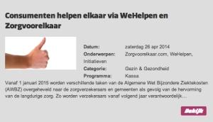 shareNL | VARA | Kassa | WeHelpen Zorgvoorelkaar | 26 04 2014